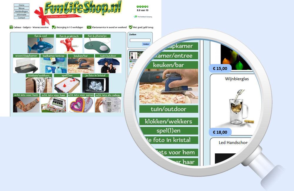 Referentie FunLifeShop - Digital Frames
